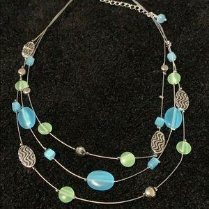 Lia Sophia - Triple Strand Beaded Necklace